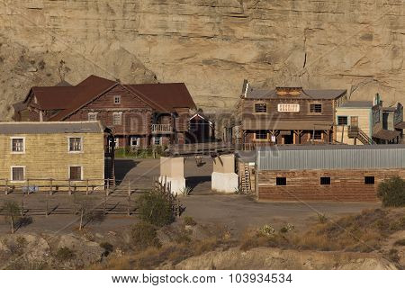 Western Film Set In Taberna's Desert, Almeria Province, Andalusia, Spain