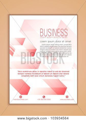 Creative Professional one page Business Flyer, Banner or Template design.