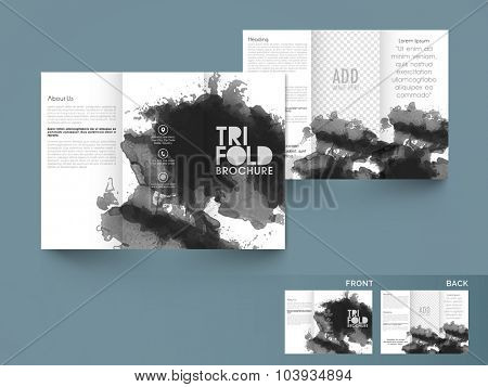 Creative professional Business Trifold, Brochure, Flyer, Banner or Template design with front and back presentation.
