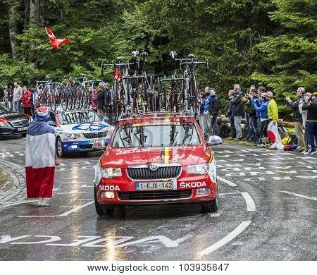 The Car Of Lotto-belisol Team - Tour De France 2014