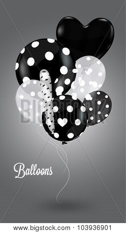 Creative Balloon Black And White Composition