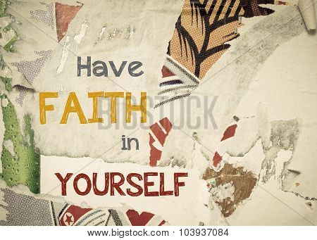 Inspirational Message - Have Faith In Yourself