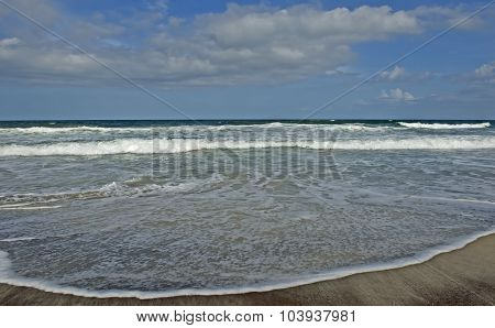 Beach, Waves, And Sand-atlantic Ocean