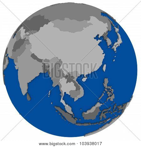 Southeast Asia On Earth Political Map