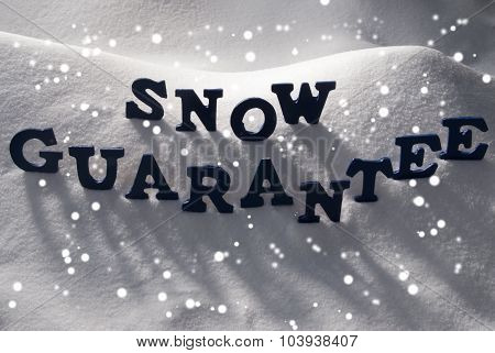 Blue Word Snow Guarantee, Snowflakes