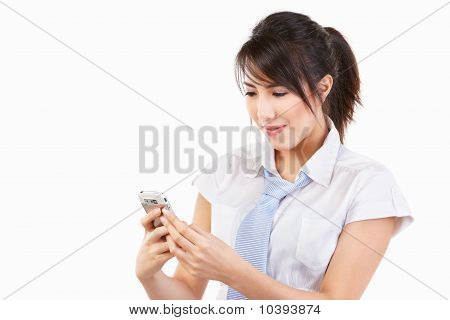 Young Female Using Cell Phone