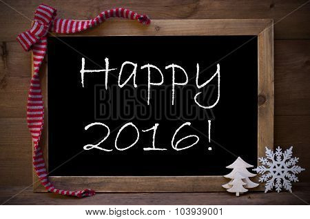 Chalkboard With Christmas Decoration Happy 2016