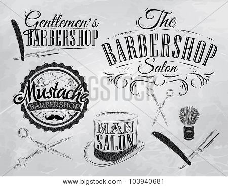 Set Barbershop Coal