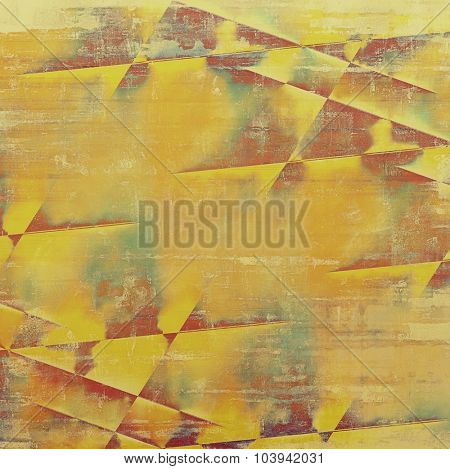 Old grunge template. With different color patterns: yellow (beige); brown; gray; green