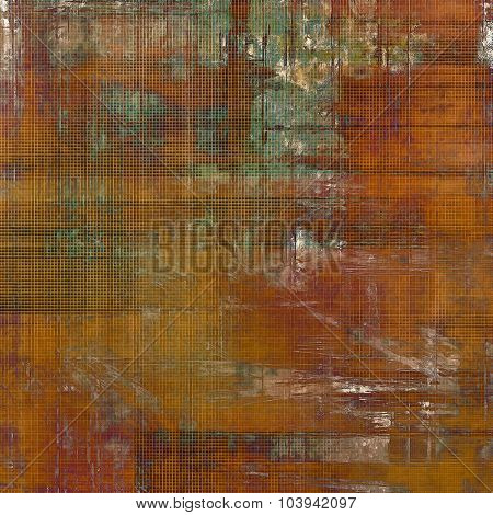 Grunge texture, may be used as retro-style background. With different color patterns: yellow (beige); brown; gray; green