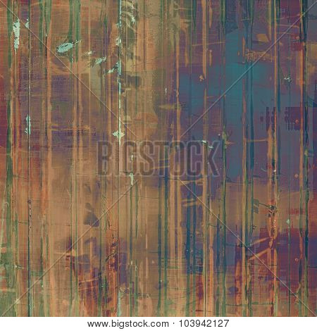 Grunge old-school texture, background for design. With different color patterns: brown; blue; green; purple (violet)