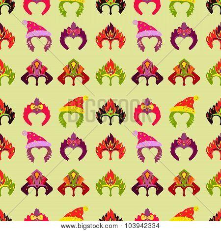 New year 2015 seamless pattern with monkey mask