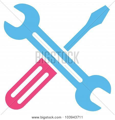Spanner And Screwdriver Icon