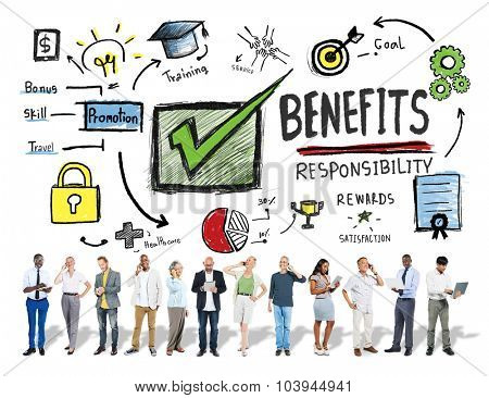 Benefits Gain Profit Earning Income Business Technology Concept