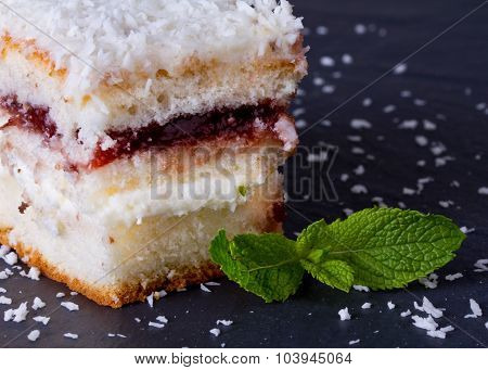 Cake With Sprinkles Of Coconut