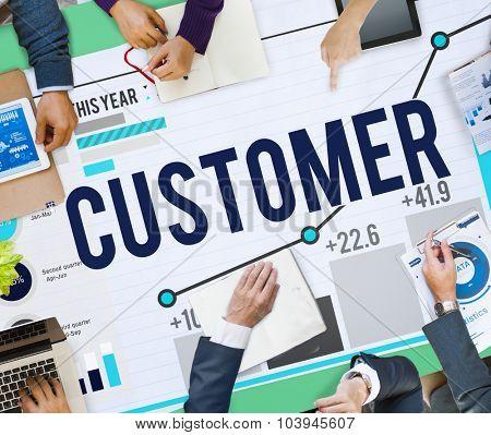 Customer Satisfaction Service Efficiency Loyalty Concept