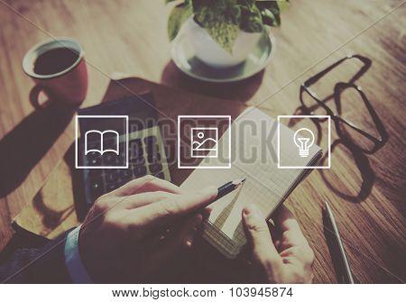 Application Design Light Bulb Media Concept