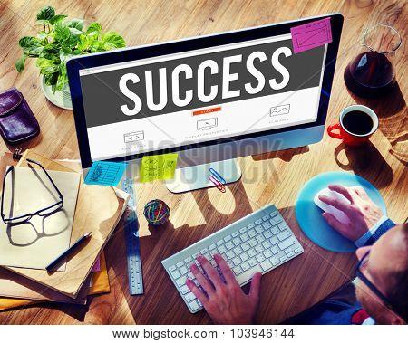 Success Improvement Celebration Winning Excellence Concept