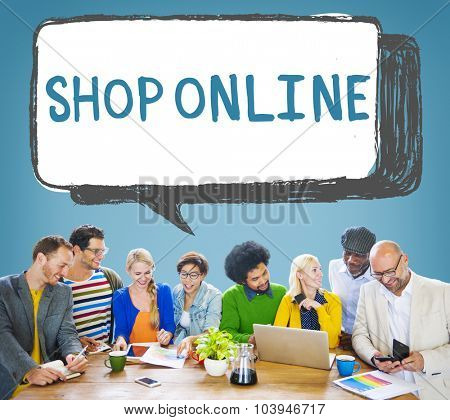 Shop Online Digital Internet Delivery Technology Concept