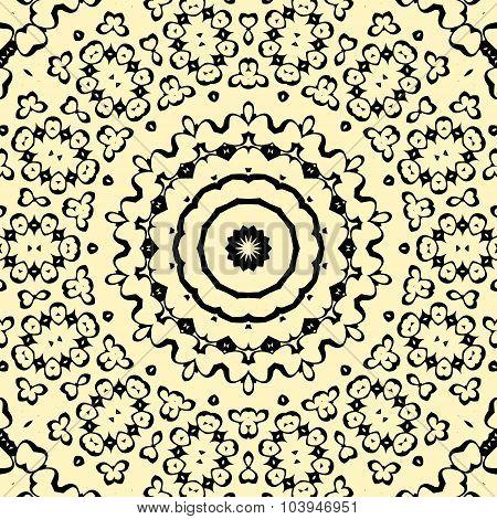 Seamless pattern oriental style indian henna artwork inspired