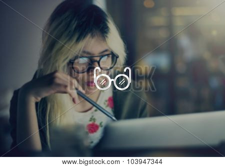 Hipster Learning Lifestyle Independence Concept