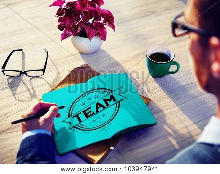 Team Teamwork Collaboration Corporate Support Concept