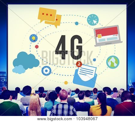 4G Telecommunication Connection Networking Mobility Concept