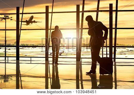 passenger In the Beijing airport