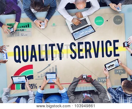 Quality Service Customer Satisfaction Assistance Concept