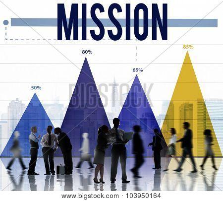 Mission Aim Aspiration Goal Inspiration Marketing Concept