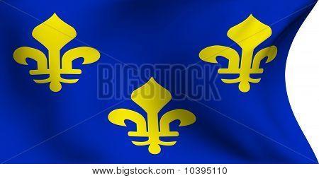 Flag Of Ile-de-france, France