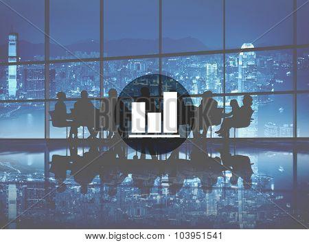 Business Bar Graph Progress Report Concept