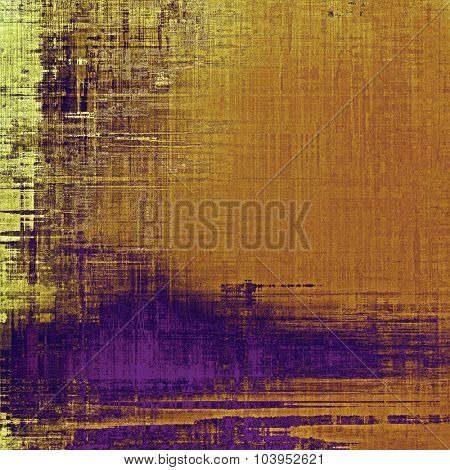 Art grunge vintage textured background. With different color patterns: yellow (beige); brown; purple (violet)