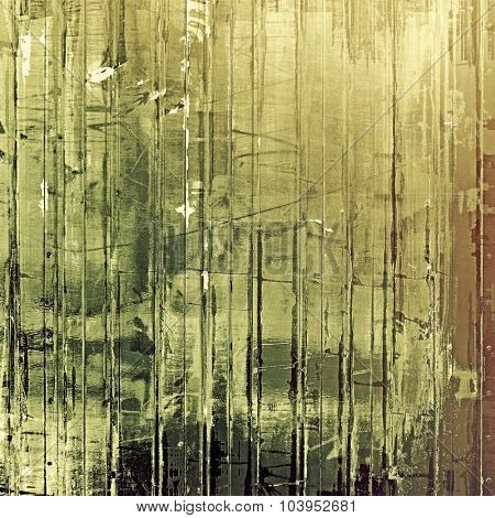 Old, grunge background or ancient texture. With different color patterns: yellow (beige); brown; gray; green