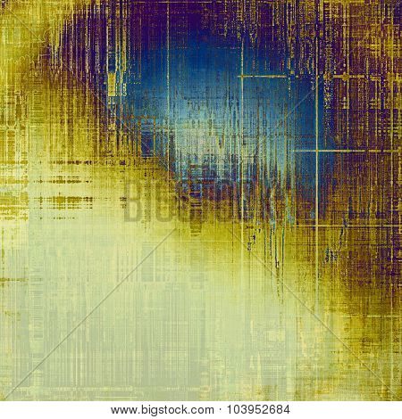 Old abstract grunge background for creative designed textures. With different color patterns: yellow (beige); brown; gray; blue