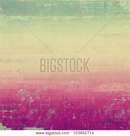 Retro background with old grunge texture. With different color patterns: yellow (beige); green; pink; cyan
