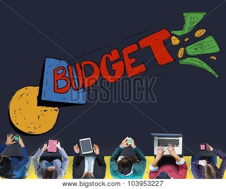 Budget Banking Expenses Planning Concept