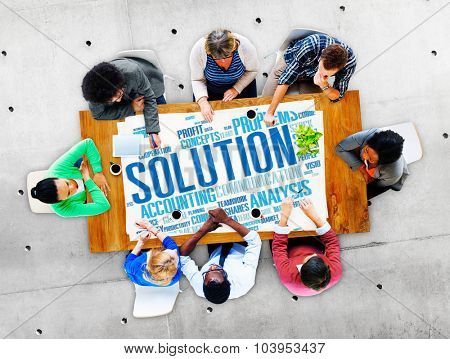 Solution Success Decision Strategic Progress Concept