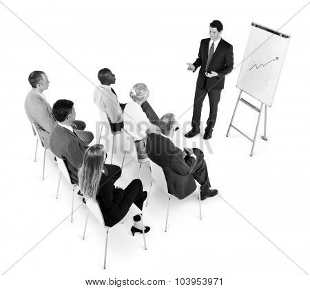 Business People Meeting Conference Presentation Growth Concept
