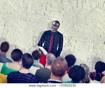 People Meeting Seminar Audience Team Concept