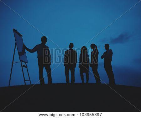 Corporate Business Team Presentation Outdoors Concept