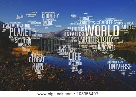 Planet World Earth Universe Global Innovation Concept