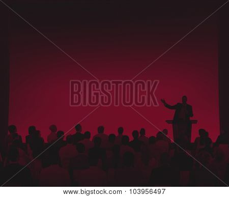 Group Business People Listening Speech Community Concept