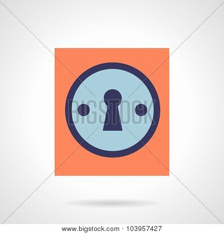 Keyhole flat color style vector icon