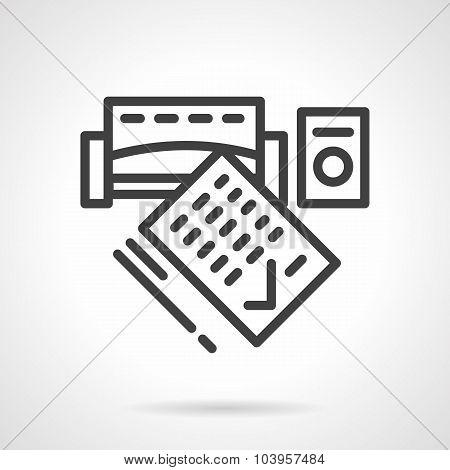 Consumer credit black line vector icon