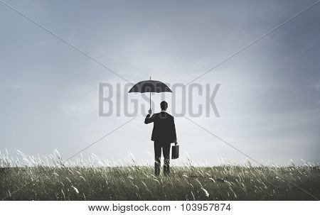Businessman Depression Anxiety Frustration Sadness Concept
