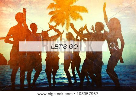 Let's Go Summer Freedom Happiness Concept