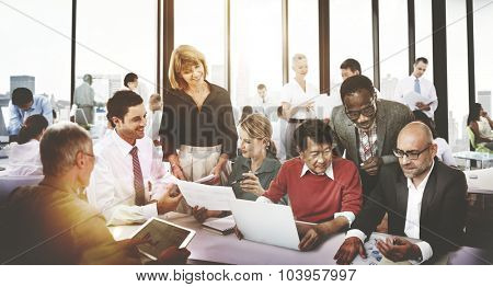 Business People Meeting Corporate Friendship Teamwork Concept