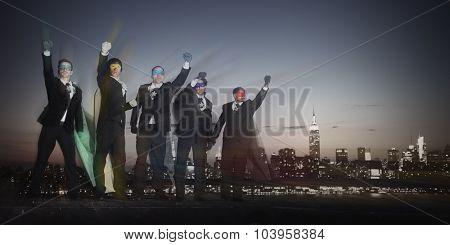 Superhero Businessmen Inspiration pride Concept