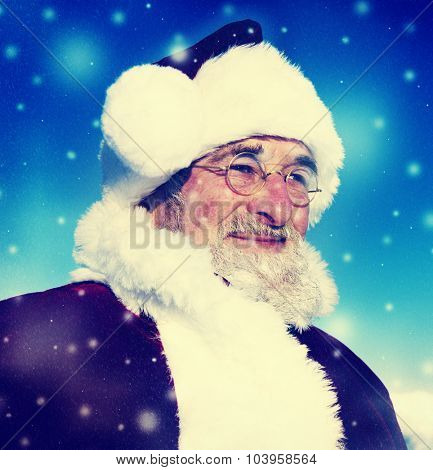 Santa Winter Seasonal New Year Snowing Concept